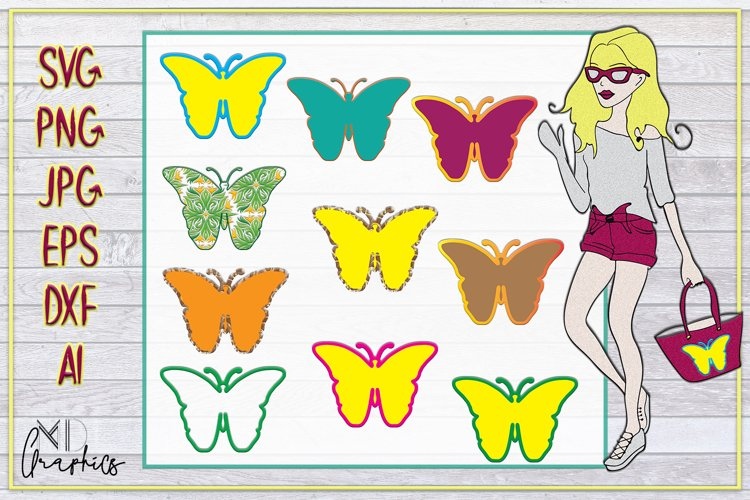Butterflies SVG. Butterflies SILHOUETTE, svg for printable example image 1