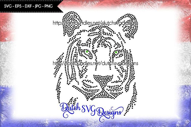 Hotfix rhinestone SS10 tiger pattern, rhinestone pattern