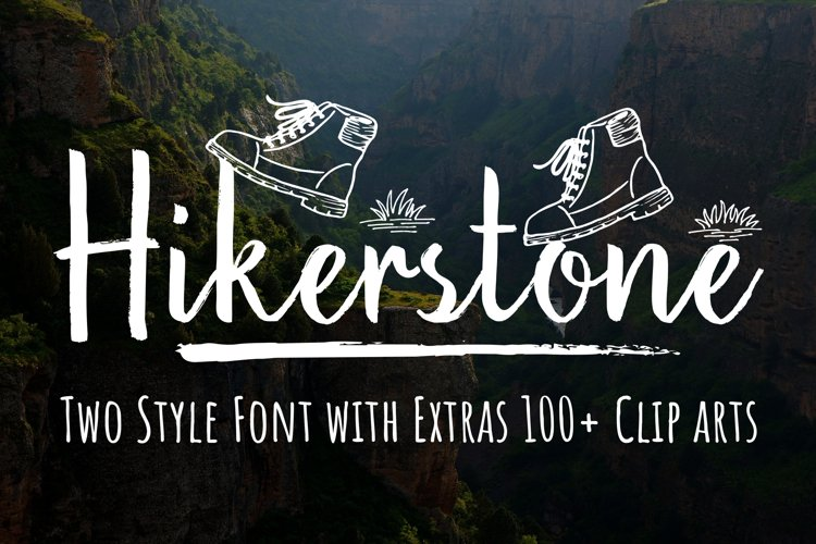 Hikerstone & 100 Extra Cliparts example image 1