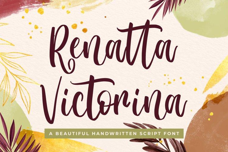 Wedding Script Font - Renatta Victorina example image 1