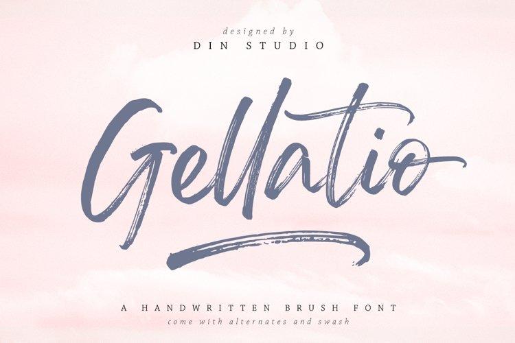 Gellatio - Chic Brush Font