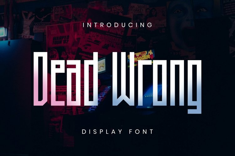 Web Font Dead Wrong Font example image 1