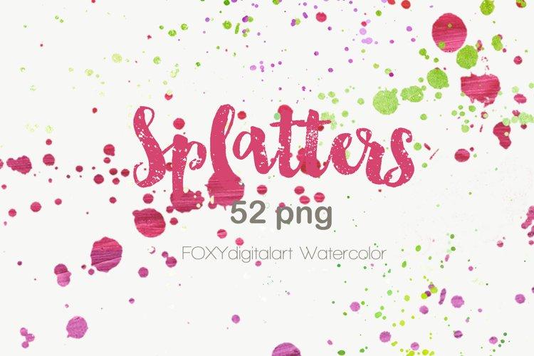 Watercolor paint splatters grunge graffiti photoshop brush example image 1