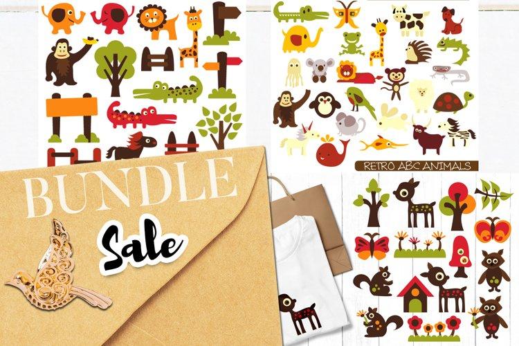 Alphabet animals, zoo, woodland - Graphics Bundle example image 1