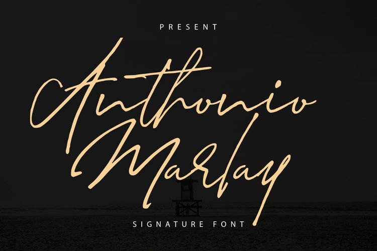 Anthonio Marlay | Signature Font