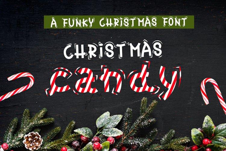 Christmas Font - Christmas Candy example image 1