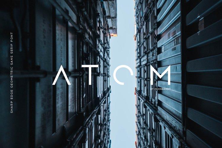 Atom - Sharp edge Future Scifi font