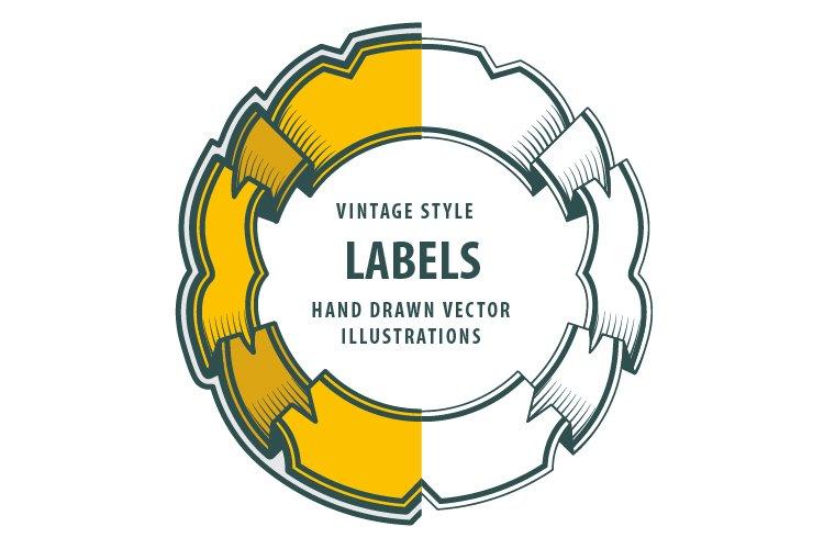 Vintage style labels set. V2 example image 1