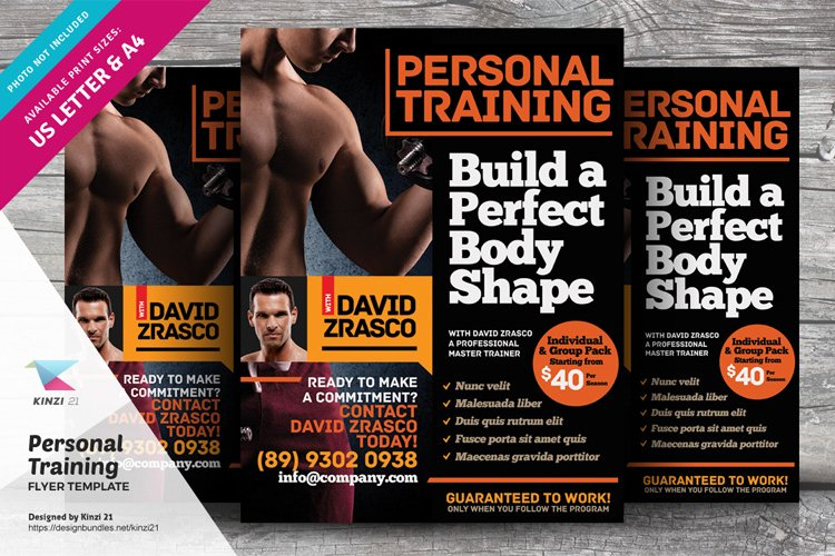 Fitness Training Flyer Template vol.01