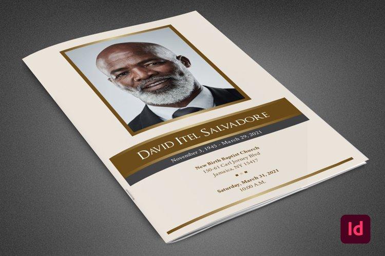Golden Life Funeral Program Template