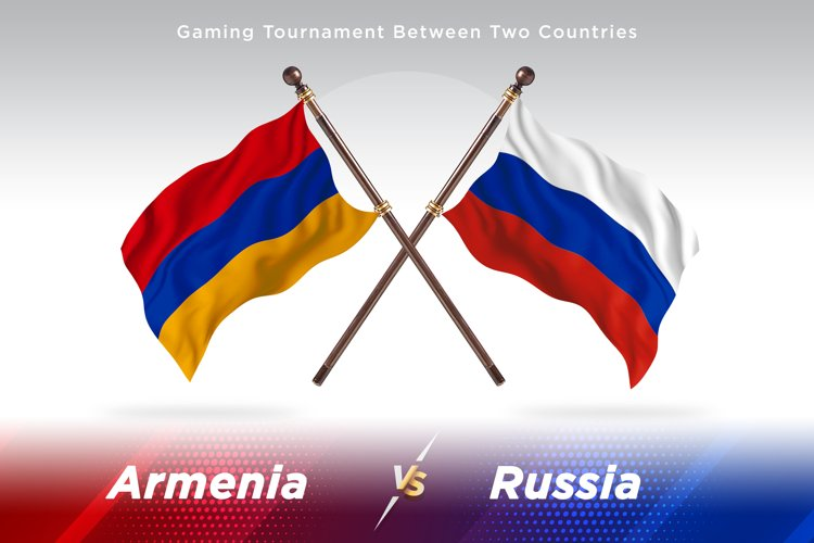 Armenia versus Russia Two Flags example image 1
