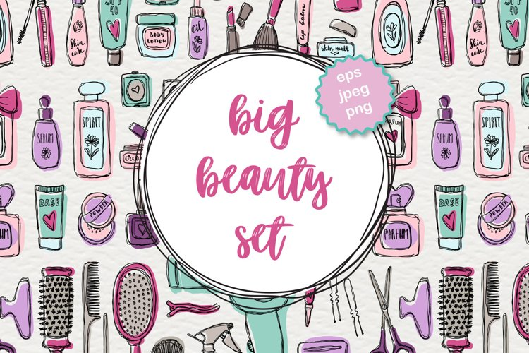 Big beauty vector set example image 1