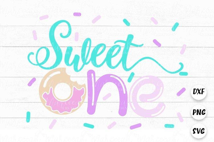 Sweet One Donut SVG | 1st Birthday Donut SVG