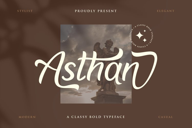 Asthan - a classy bold typeface example image 1