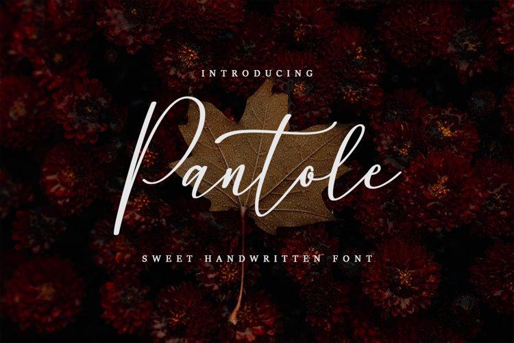 Pantole - Sweet Handwritten Font example image 1