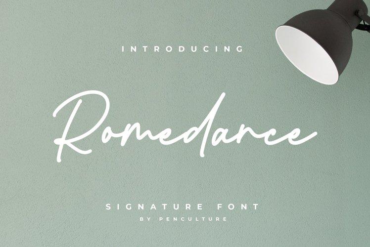 Romedance Signature Font example image 1