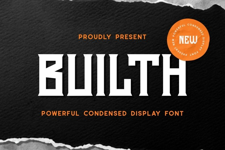 Web Font Builth Font example image 1