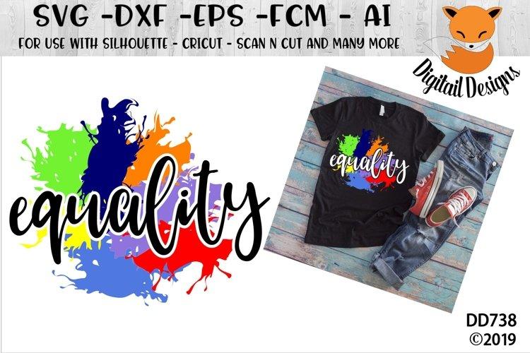 Rainbow Equality Paint Splash LGBT SVG