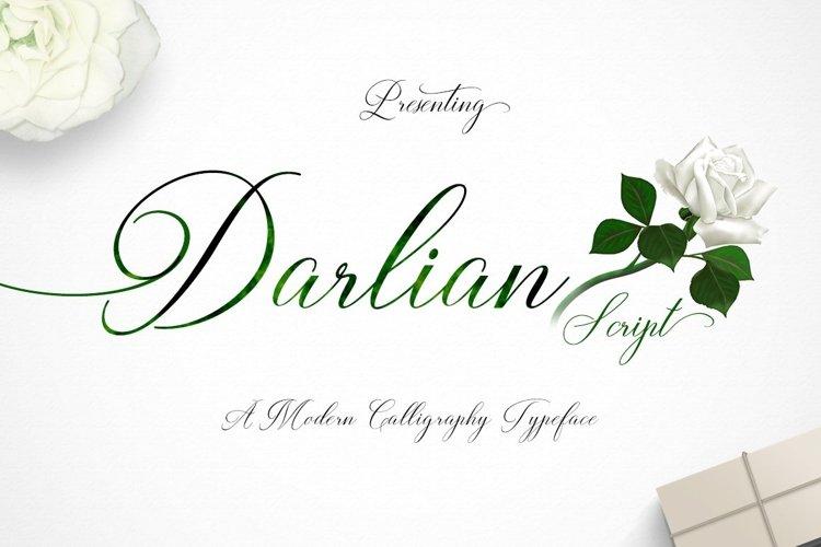 Web Font Darlian Script example image 1