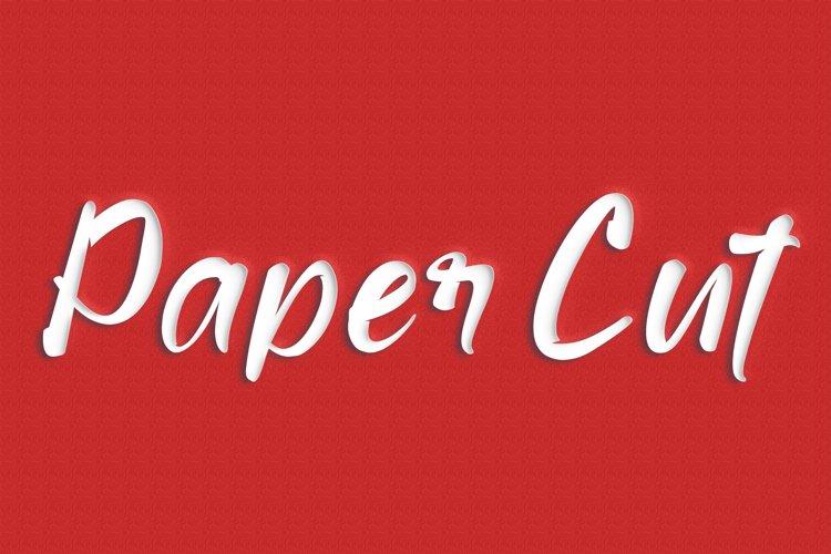 Paper Cut Editable Photoshop Text Style Effect