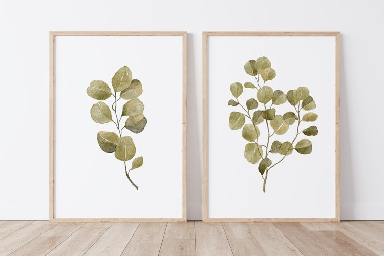 Watercolor Leaves Wall Art, Leaf Wall Print, Plant Wall Art example image 1