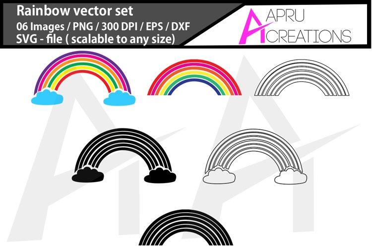 Rainbow vector set/ Rainbow svg/ rainbow silhouette