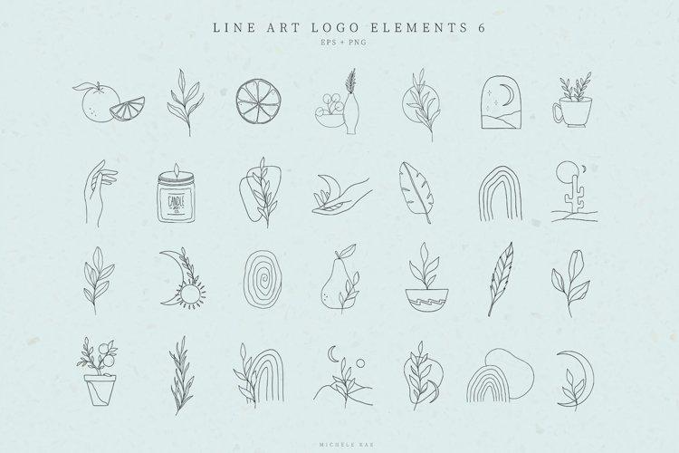 Line Art Logo Elements, Logo Design, Business card, Boho example image 1