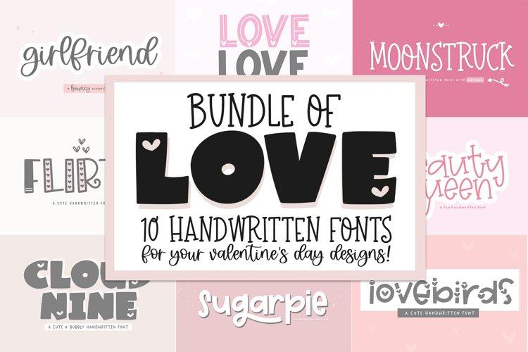Font Bundle of Love - Valentines Day Fonts