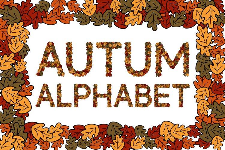 Autum Alphabet- SVG Bundle
