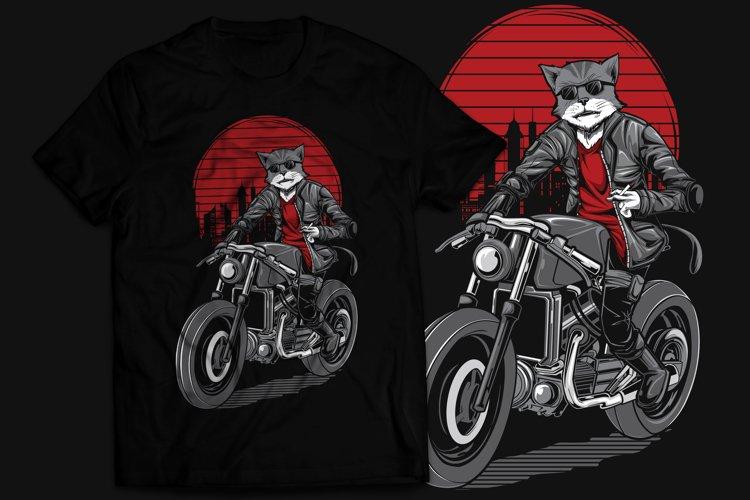 Cat Rider T-Shirt Design