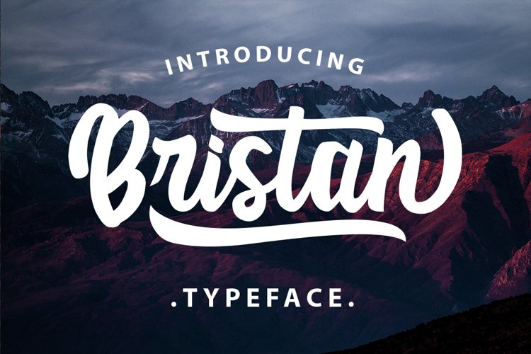 Bristan Typeface example image 1