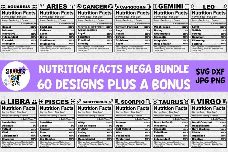 Mega Nutrition Facts Bundle - Bonus Blank Nutrition Facts