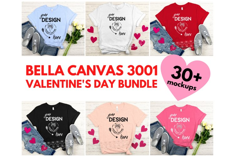 Bella Canvas Mockup Bundle - Valentine's Day Mockups example image 1