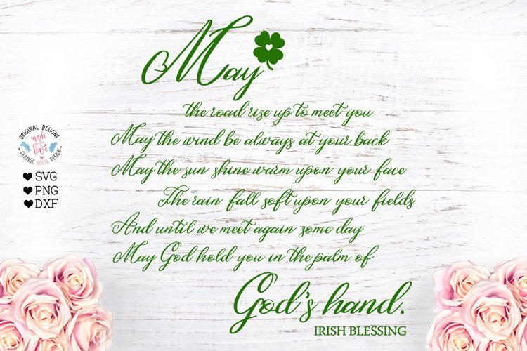 Irish Blessing - Cut File and Sublimation example image 1