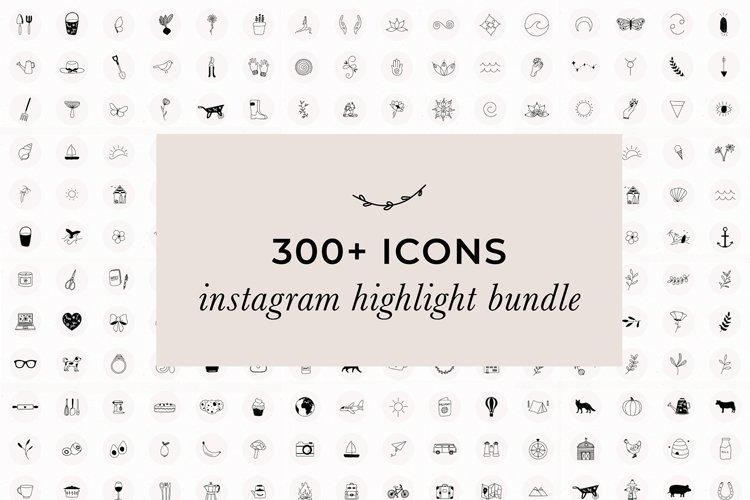 Over 300 JPG Instagram Highlight Icons | Instagram Bundle example image 1