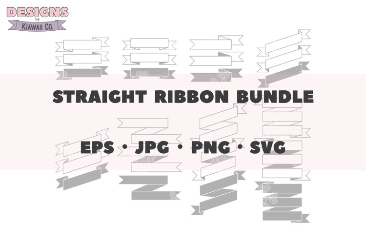 Straight Ribbon Bundle, Single Line Ribbon, Ribbon SVG