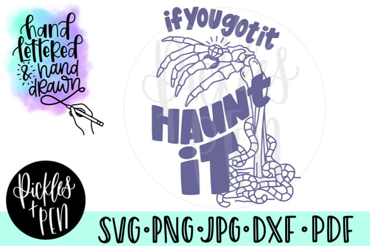 Engaged Skeleton SVG - if you got it haunt it