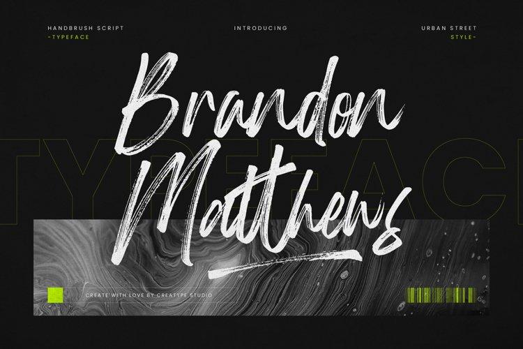 Brandon Matthews Handbrush Script example image 1