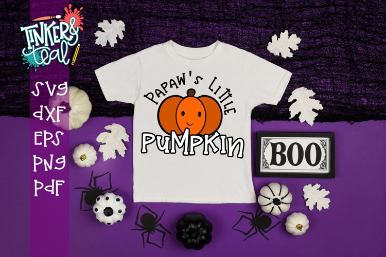 Papaw's Little Pumpkin Fall SVG example image 1