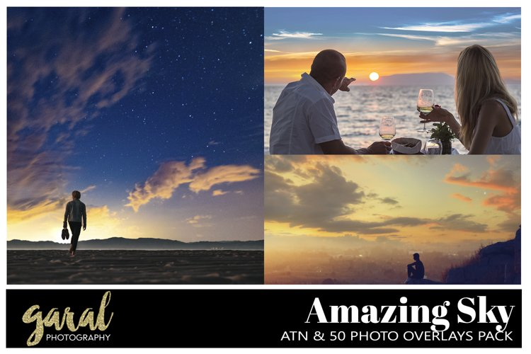 AMAZING Sky Overlays, JPG Collection and Sky Replacer Action example image 1