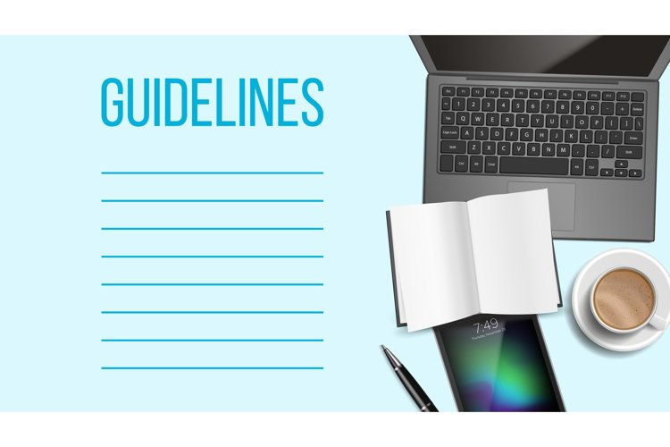 Guidelines Notepad Page Template With Text Space example image 1