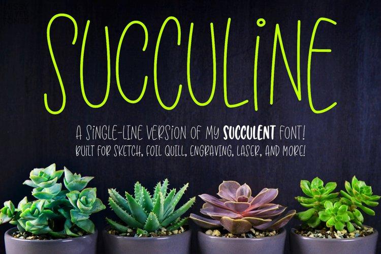SuccuLine - single-line hairline version of Succulent font!