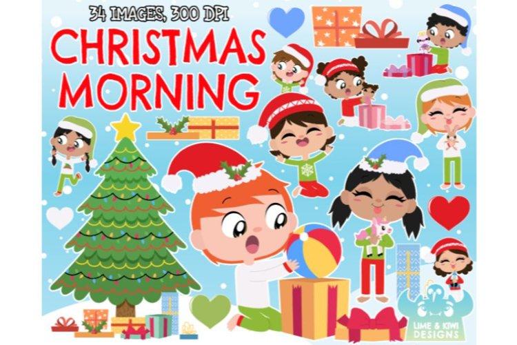 Christmas Morning Clipart - Lime and Kiwi Designs