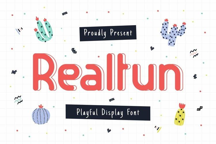 Web Font Realfun example image 1