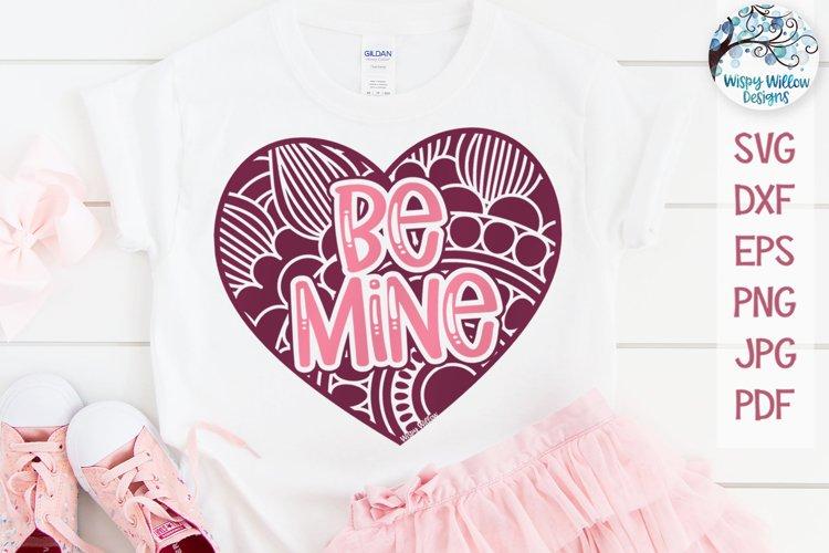 Be Mine Mandala Heart | Valentine Heart Mandala SVG example image 1