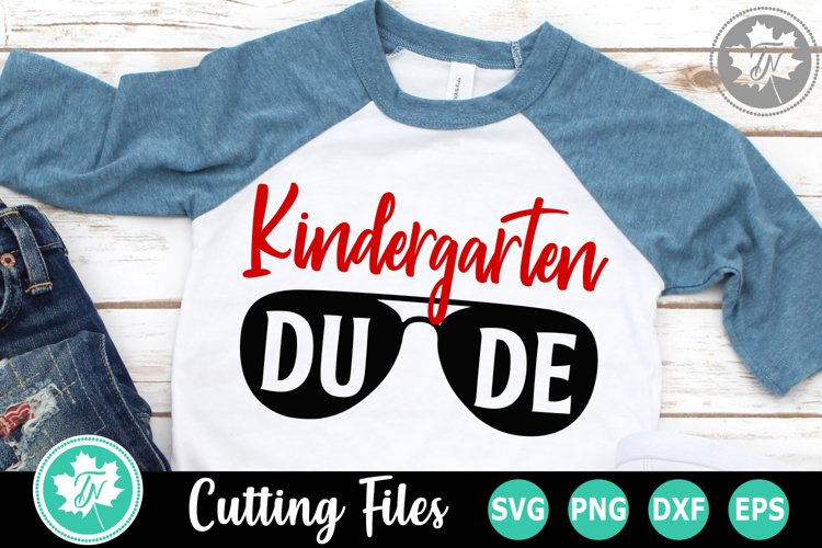 Kindergarten Dude - A School SVG Cut File example image 1
