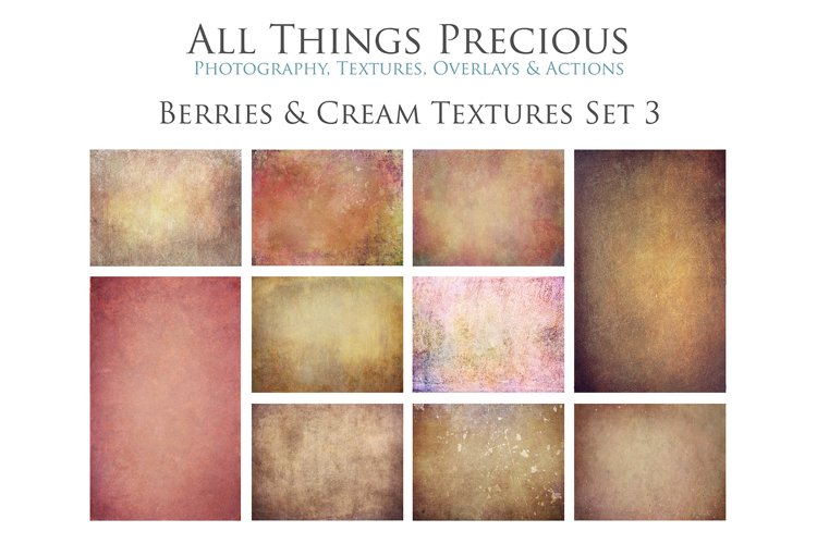 10 Fine Art BERRIES & CREAM Textures SET 3 example image 1