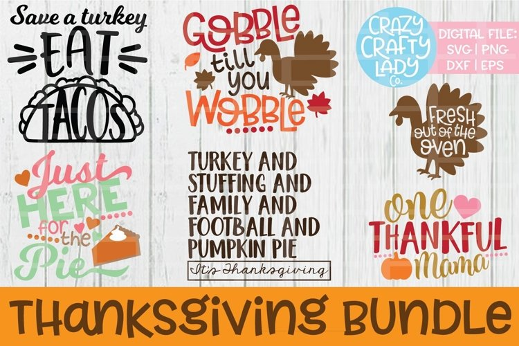 Thanksgiving Bundle SVG DXF EPS PNG Cut Files example image 1