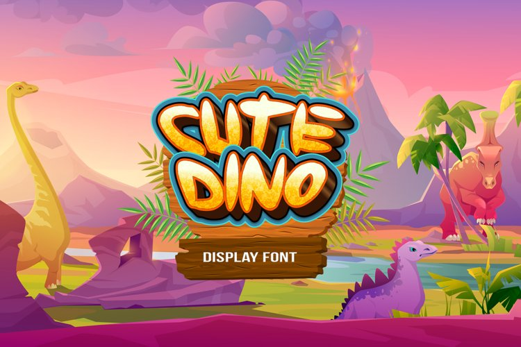 Cute Dino Display Font