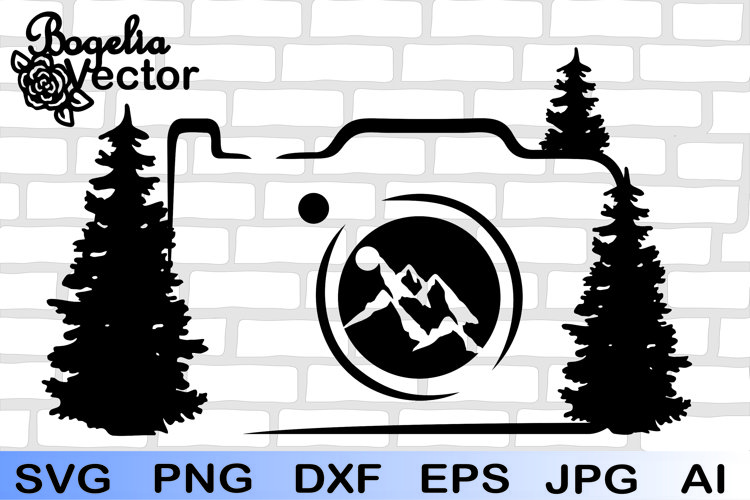 Camera Svg, Mountain Camera Svg, Camera Png, Photographer Ai